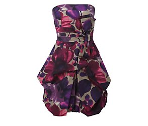 Rose and begonia floral dress