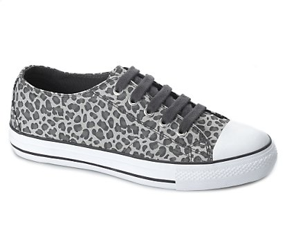 Leopard print lace up shoe
