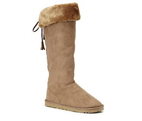 Knee high fur lined boot