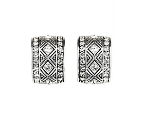 Clip-on diamonte earring