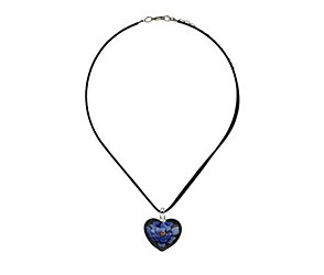 Flower in a heart necklace