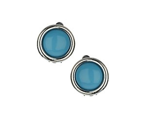 Round clip on earring