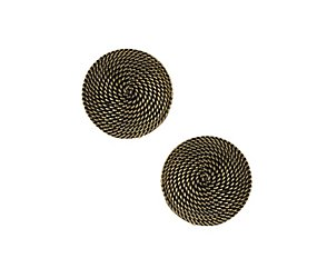 rope effect circle stud earring
