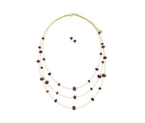 Facet beads on wire jewellery multipack
