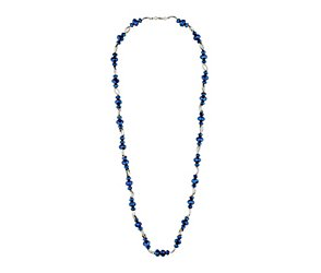 Facet bead & tube necklace