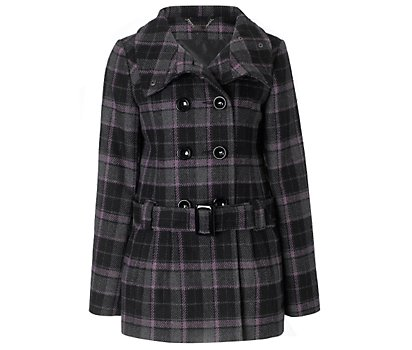 3/4 tulip check coat
