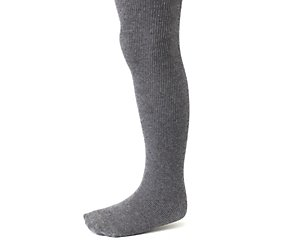 1 pack charcoal cotton soft ribbed tights