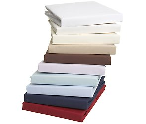Egyptian cotton single flat sheet