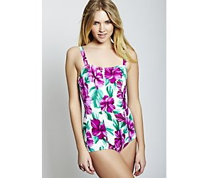 Pansy floral tummy control swimsuit