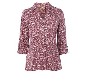 3 4 sleeve ditsy all over print shirt