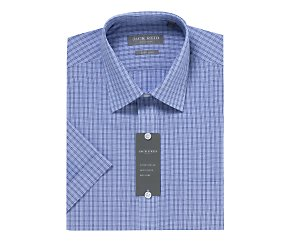 Short sleeve easy care check shirt