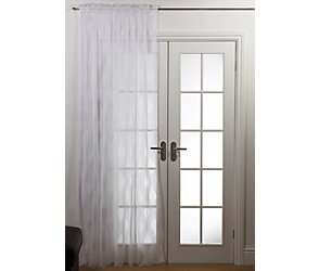 Ogee lace voile panel