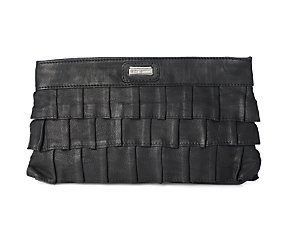 Nyah leather clutch bag