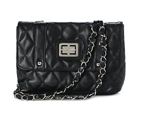 Misha small quilted shoulder bag