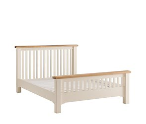 Maine king oak high foot end bed