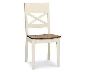 Coniston two tone wooden slatted chair