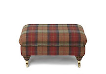 Aviemore legged stool in check fabrics