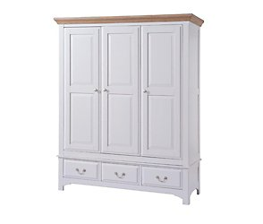 Maine triple door wardrobe with drawers