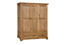 Toulouse triple door wardrobe with drawers