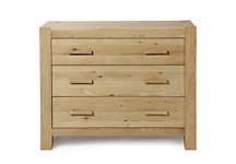 Oak corby 3 drawer chest