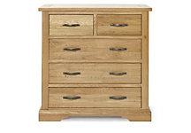 Hudson 2 + 3 drawer chest of drawers