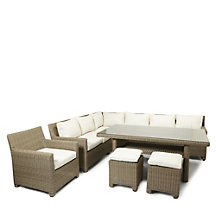 Valencia Corner Dining Set with Chair & Footstools