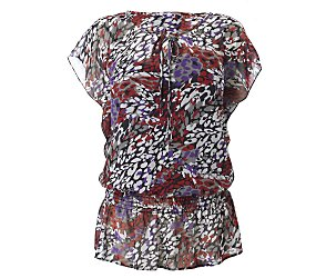 Multi colour print blouse