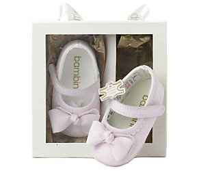 bhs Leather bow ballet shoe