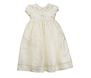 bhs Silk long christening gown