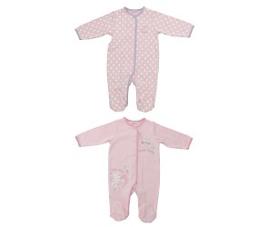 bhs 2 pack bunny sleepsuits