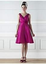 Cecily fuschia taffeta bridesmaid dress