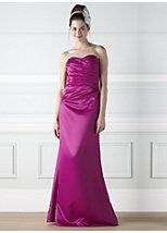 Violetta fuschia satin bridesmaid dress