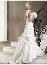Julietta taffeta one shoulder bridal dress