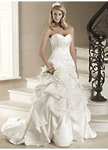 Marietta satin strapless bridal dress
