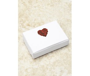 Red rose heart cake/favour boxes