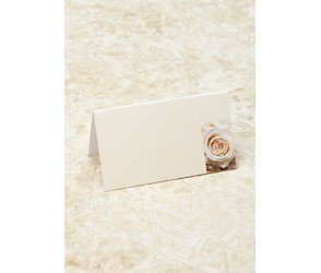 Cream roses placecards