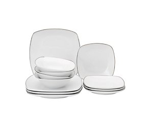 Arctic platinum 12 piece square set