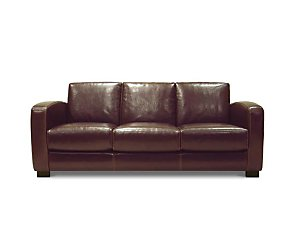 Retro 3 Seater Leather Sofa