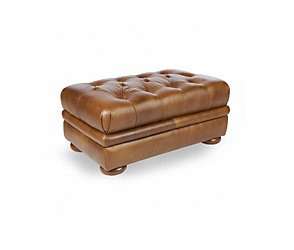Cobden Leather Footstool