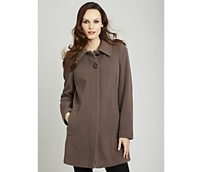 Classic single breasted wool blend coat