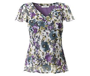 Short sleeve hampshire flower blouse