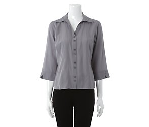 3/4 sleeve seamed blouse