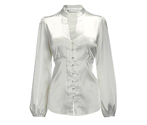 Long sleeve satin shirt