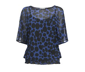 Short sleeve big spot tunic top
