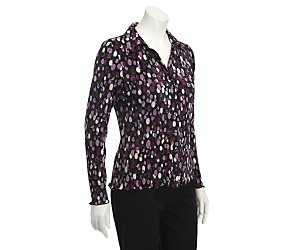 Long sleeve mini spot blouse