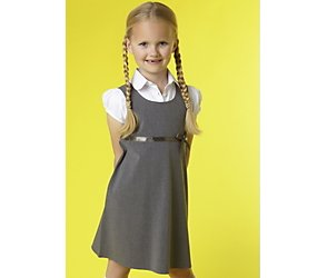 Junior girls pinafore and blouse set