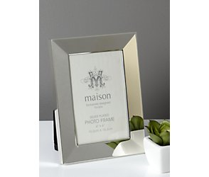 Silver plated bevelled photoframe 5x7