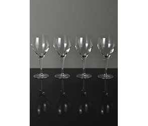 Maison exclusively designed for you milano set of 4 white wine glasses