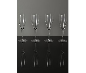 Maison exclusively designed for you milano  set of 4 champagne flutes
