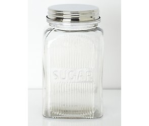 Glass sugar jar